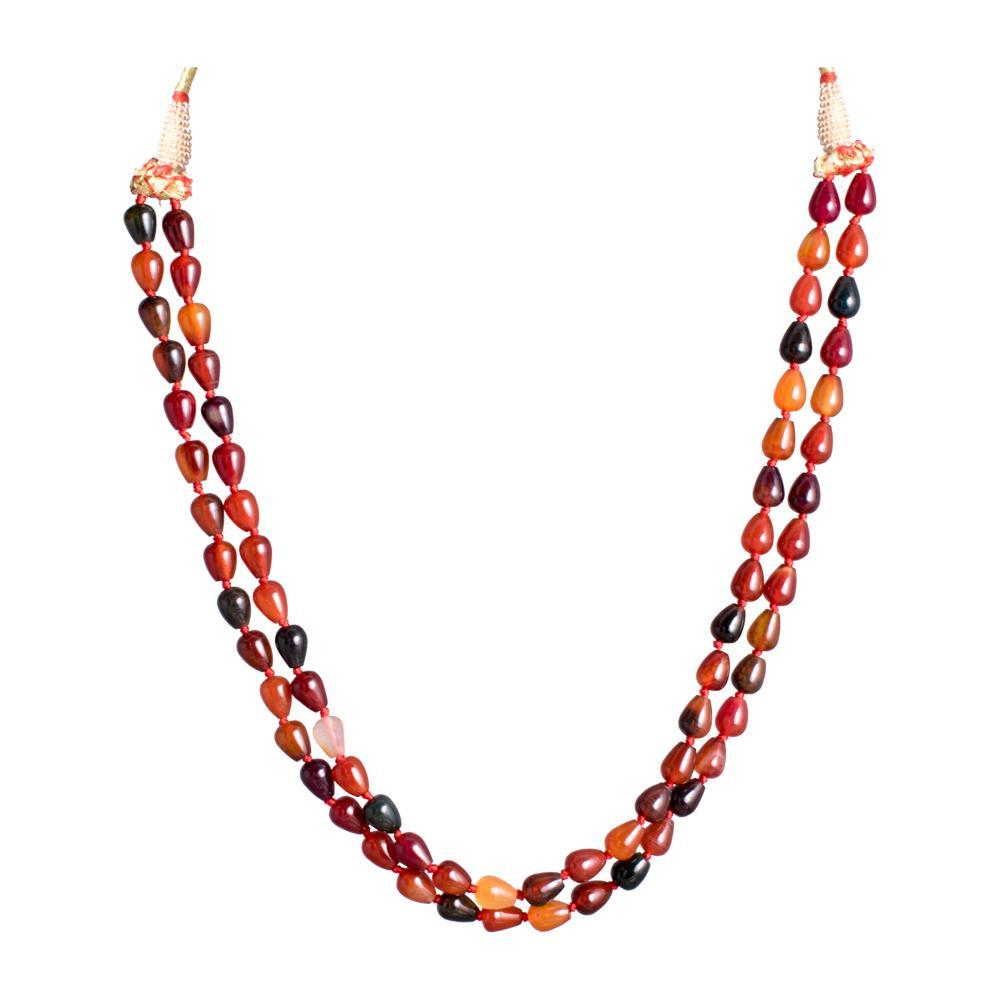Pretty Amber Coloured Necklace