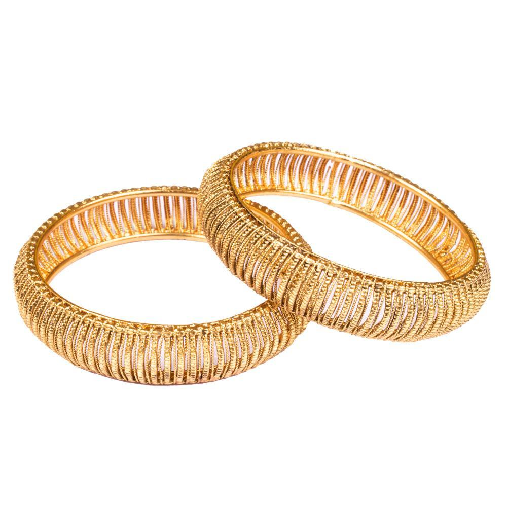 Gold plated heavy bangles