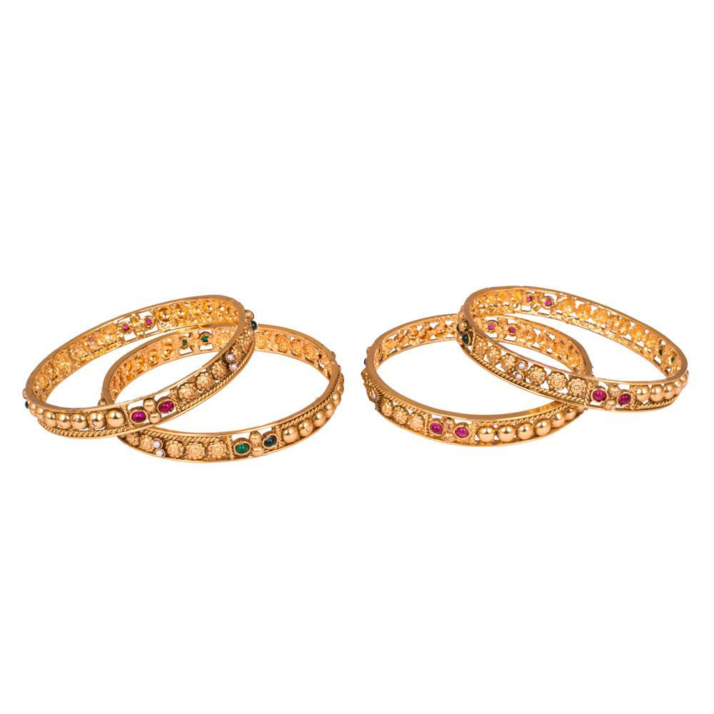 High quality chunky gold plated bangles