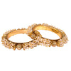 Gold Plated Pearl Bangles