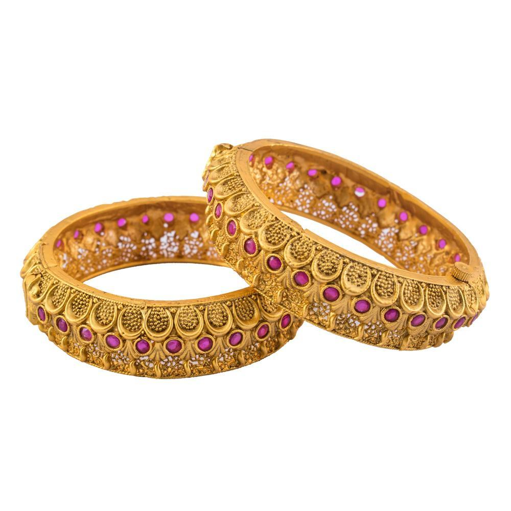 Textured and intricate bangles