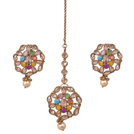 Charmed Earrings And Maang Tikka Set