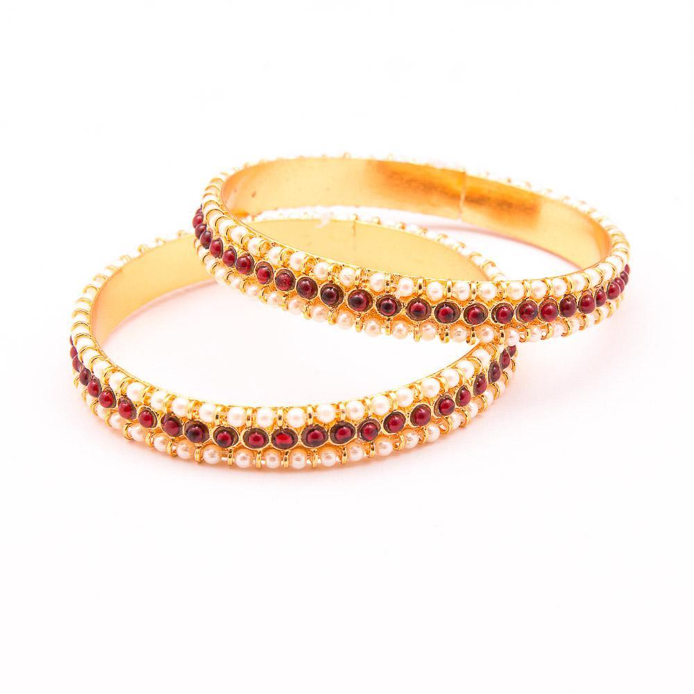 Pearl And Kemp Gold Bangles for Rs.Rs. 450.00 | Bangles by Prashanti Sarees