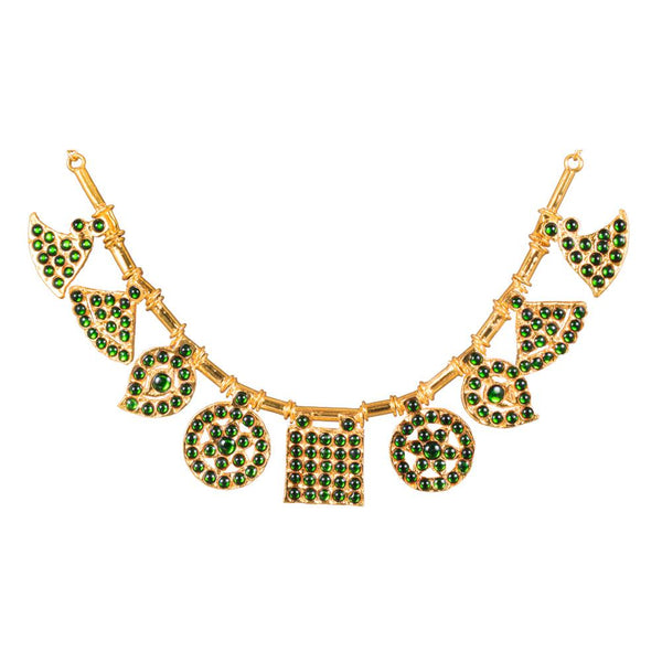 Gold Plated Green Kemp Elegant Necklace