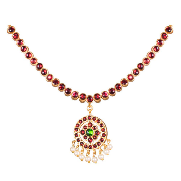 Gorgeous Handmade Kemp Traditional Necklace for Rs.Rs. 225.00 | Jewellery by Prashanti Sarees