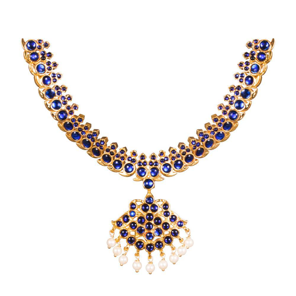 Midnight Blue Kemp Traditional Necklace