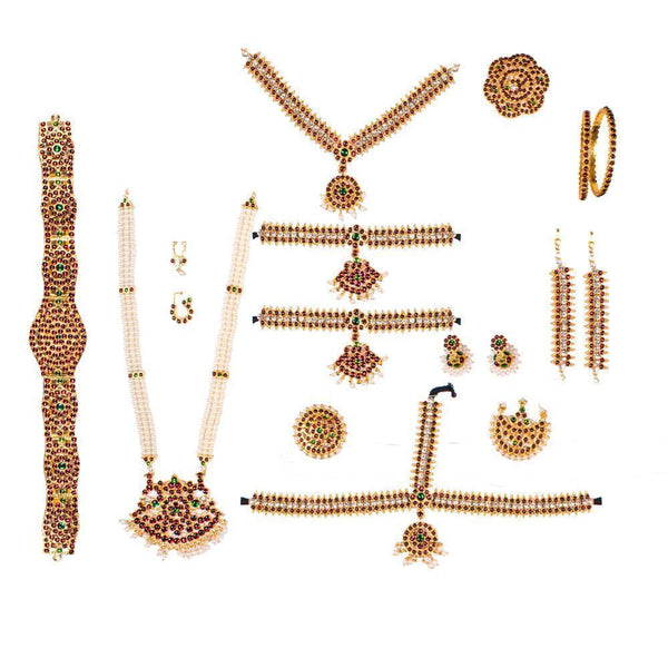 Subtlety Redefined Bharatnatyam Set for Rs.Rs. 1450.00 | Jewellery by Prashanti Sarees