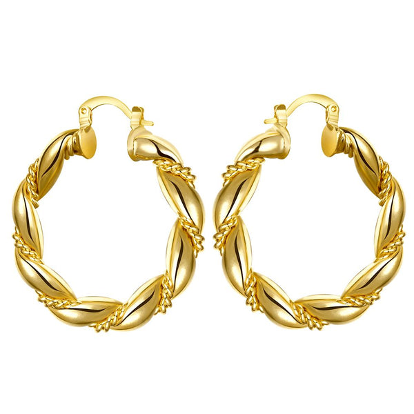 Gold Plated Circular Curve Earrings