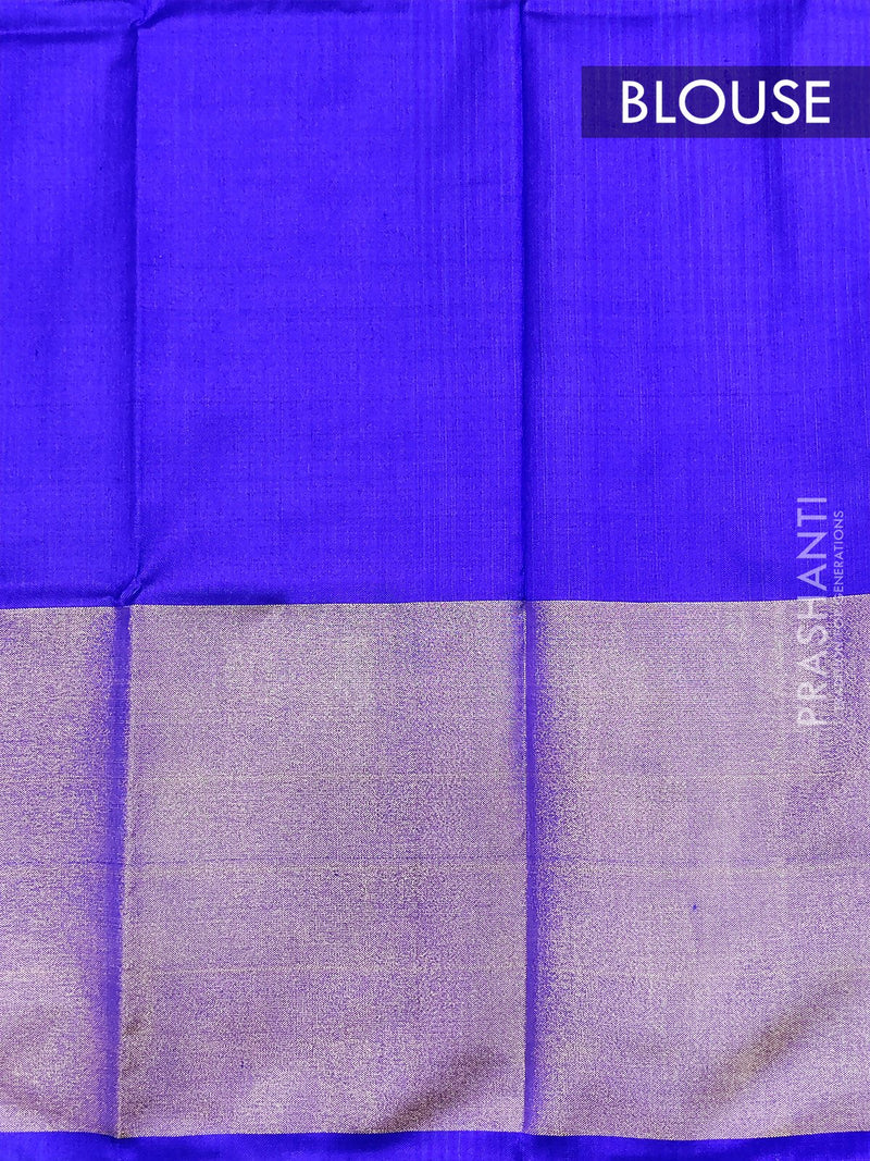 Pure ikat silk pavadai sattai material orange and blue with ikat weaves and zari border for 0 to 2 years for Rs.Rs. 2390.00 | Kid's Paavadai Sattai by Prashanti Sarees