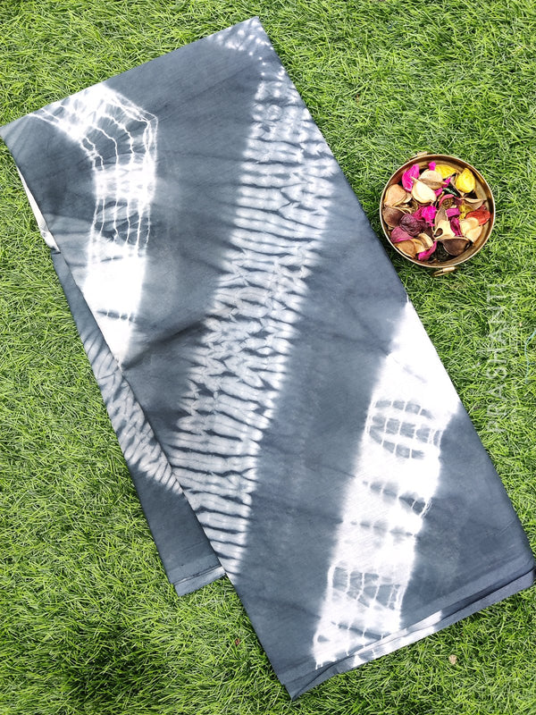 Jaipur cotton saree grey and white tie and dye style