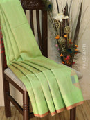 Dupion silk saree light green and dual shade of violet with thread weaving and golden zari border for Rs.Rs. 5090.00 | Silk Sarees by Prashanti Sarees