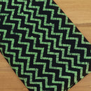 Cotton Saree Black and Green with batik Print
