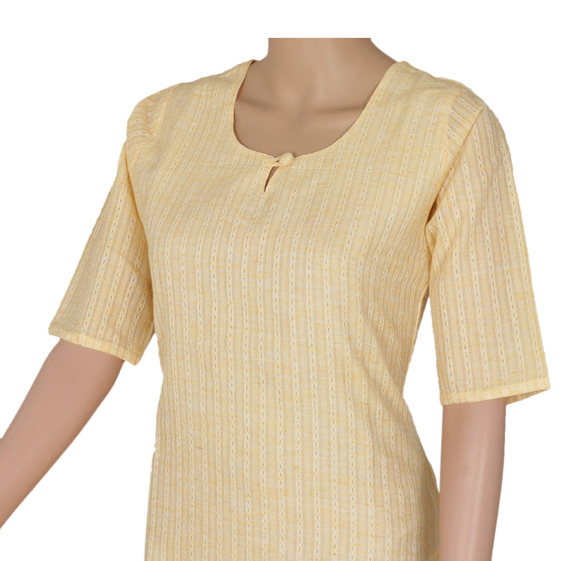 Cotton Kurta Light Yellow for Rs.Rs. 680.00 | Kurta by Prashanti Sarees