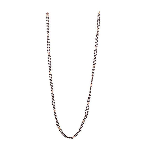 Gold Plated Black beaded Chain
