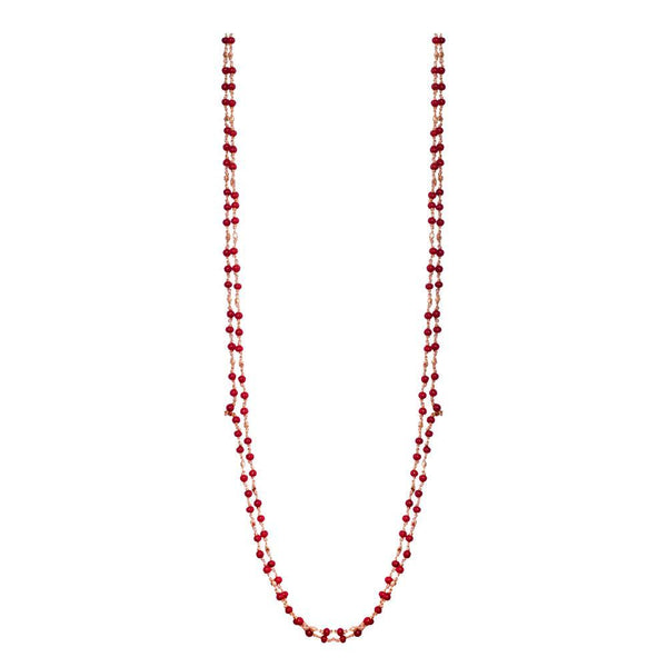 Red Beaded Gold Chain