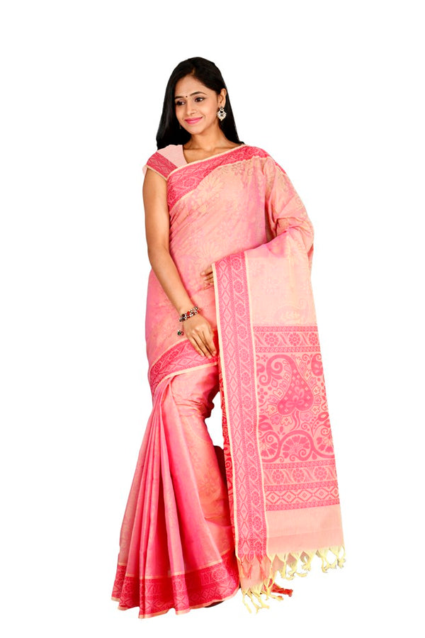 coimbatore Cotton Saree - Pink for Rs.Rs. 1969.00 | by Prashanti Sarees