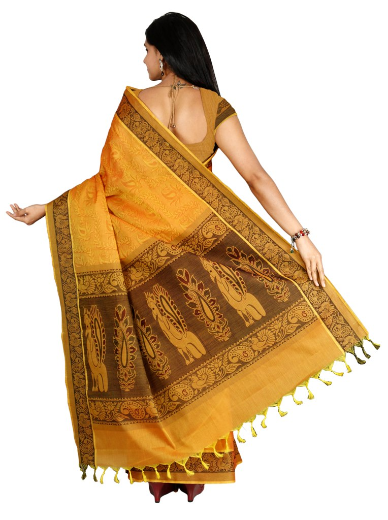 coimbatore Cotton Saree - Yellow for Rs.Rs. 1959.00 | by Prashanti Sarees