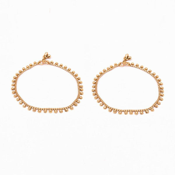 Reign of gold for Rs.Rs. 395.00 | Anklets by Prashanti Sarees