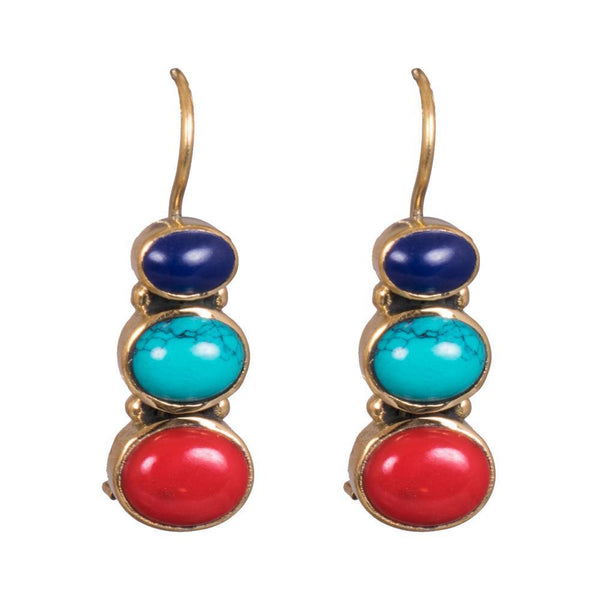 Multicoloured Matte Earrings