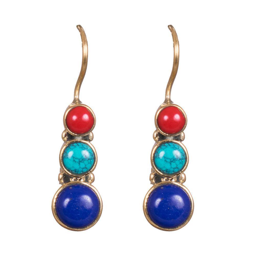 Multicoloured kemp earrings