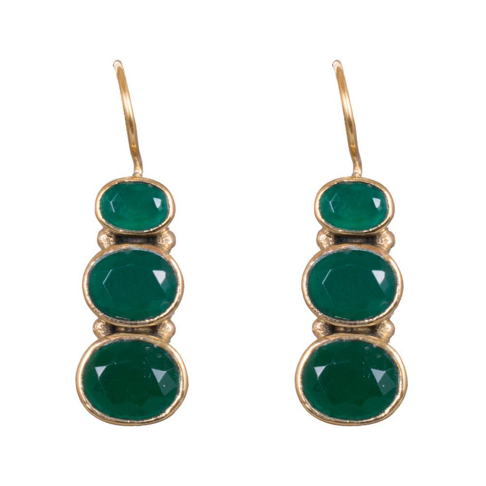 Green dangling kemp earrings