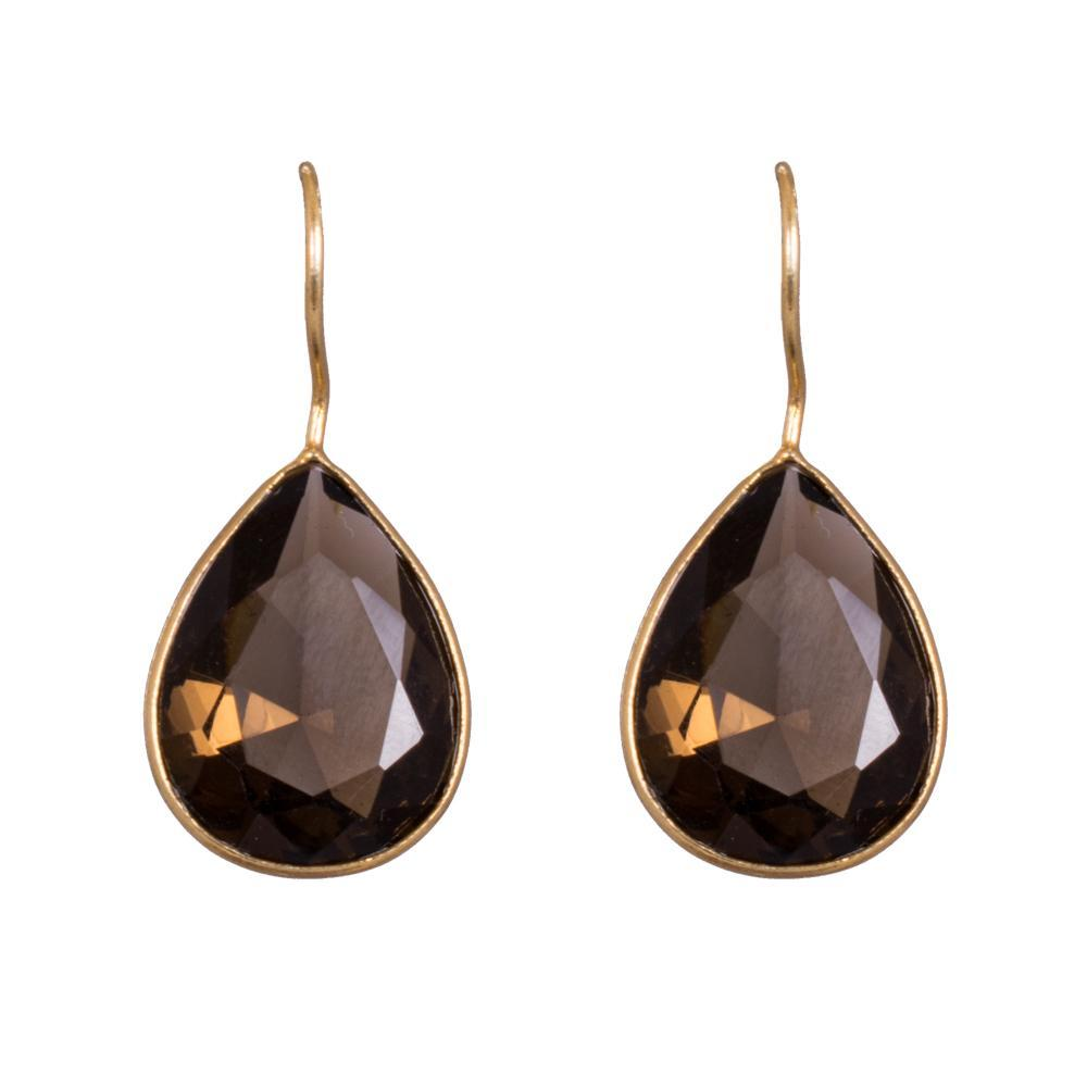 Brown glass earrins