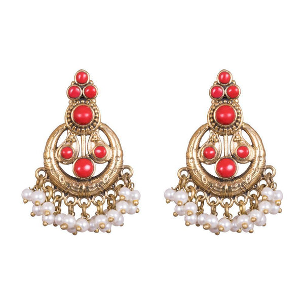Dual Tone Chandbali Earrings