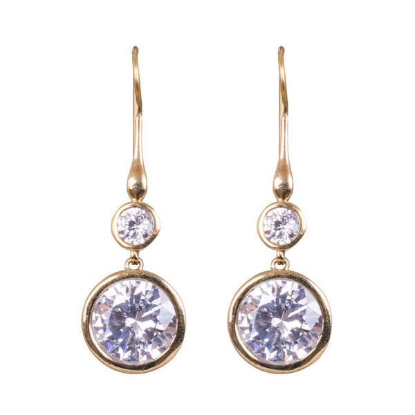 American Diamond Gold Plated Earrings