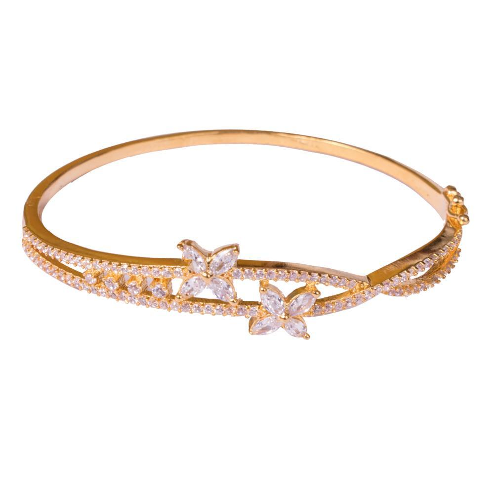American diamond gold plated bangle