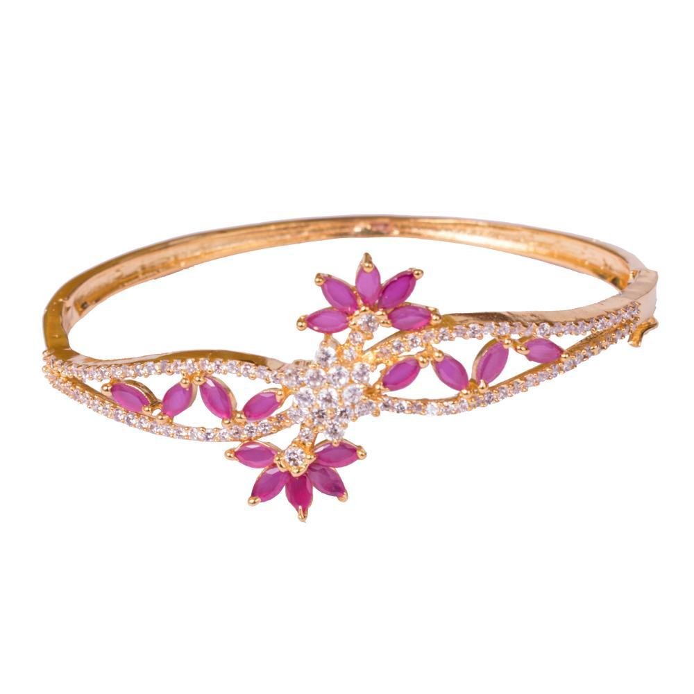 Gold plated ruby beautiful bangles