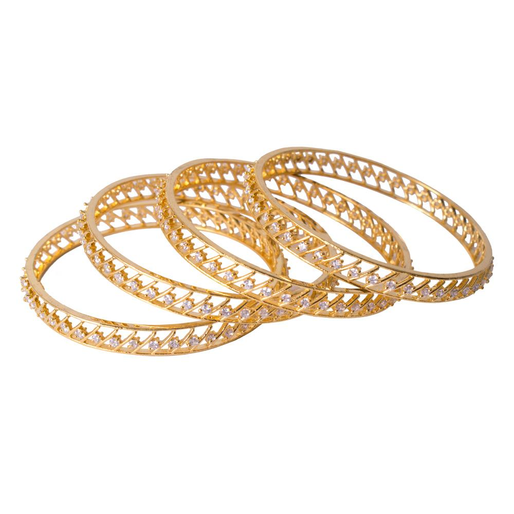 Paattern gold plated bangles for Rs.Rs. 1150.00 | Bangles by Prashanti Sarees