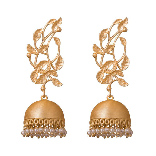 Leaf Design Hand Crafted Simple Jhumkas