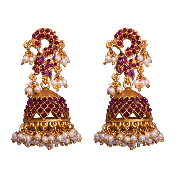Dangling  gold plated jhumkas