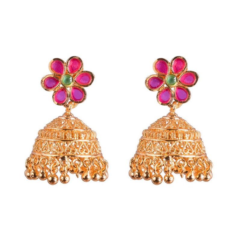 Flower design jhumka