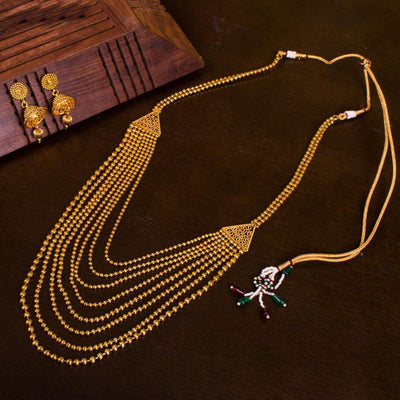 Ethnic layered necklace set