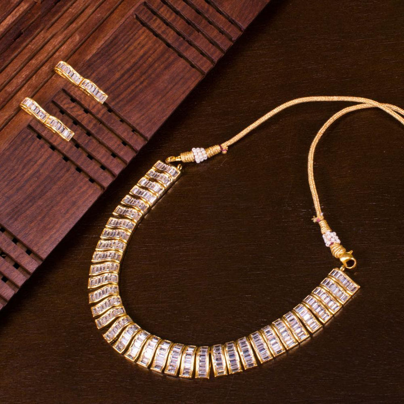 Elegance White Zircon Necklace