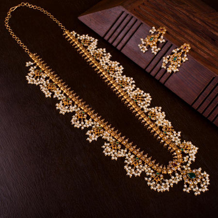 Indian Guttapusalu Neckset for Rs.Rs. 3950.00 | Jewellery by Prashanti Sarees