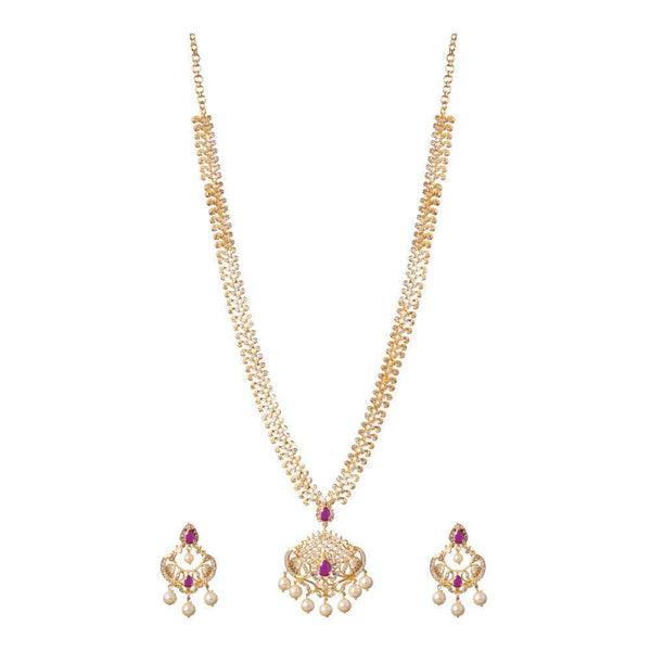 Zircon ruby necklace set