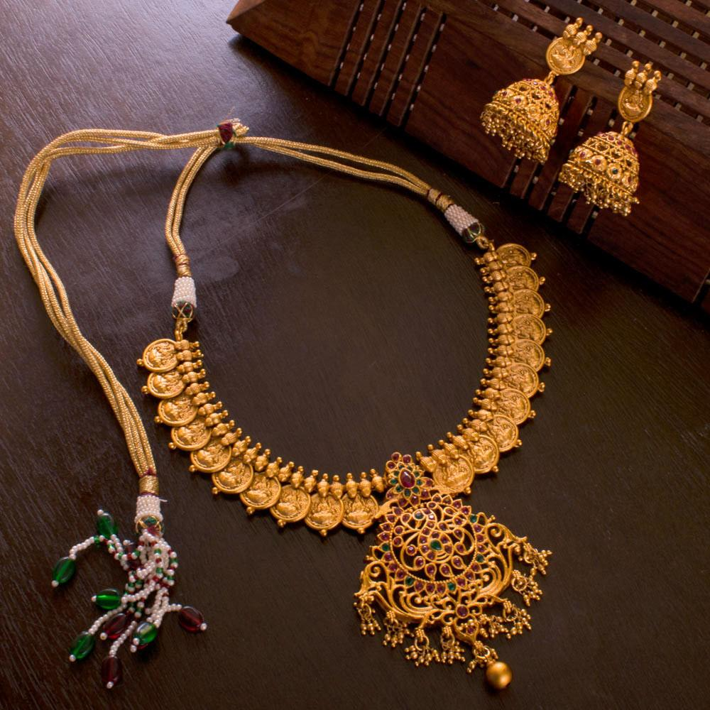 Heavy Gold Plated Necklace Set