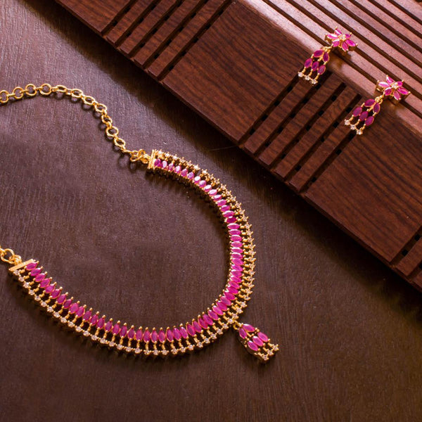 Pink Colour Ruby Necklace