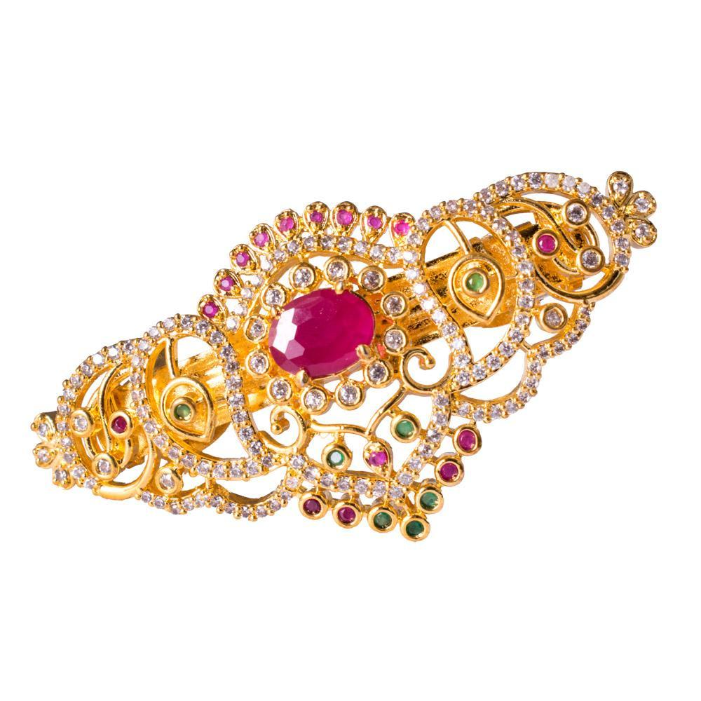 Shimmering Ruby Studded Hair Clip
