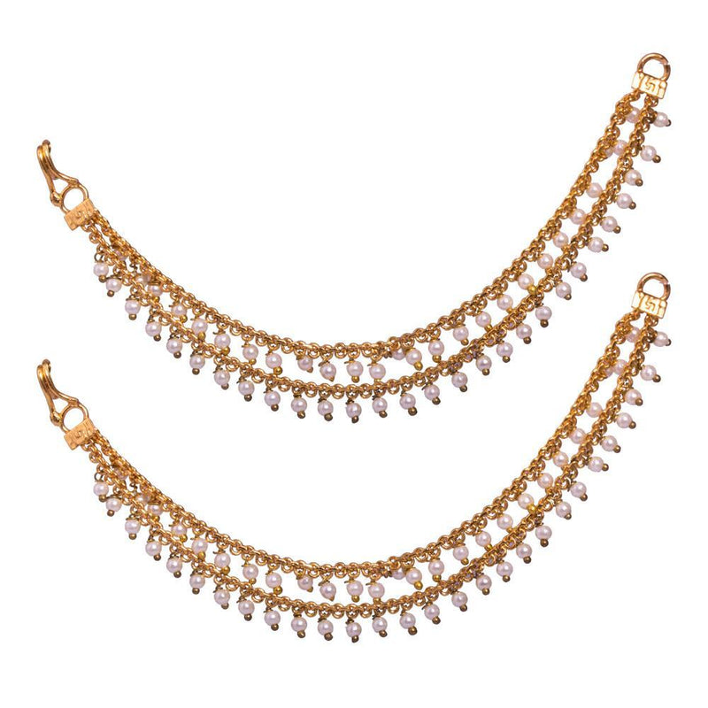 Gold plated pearl mattal