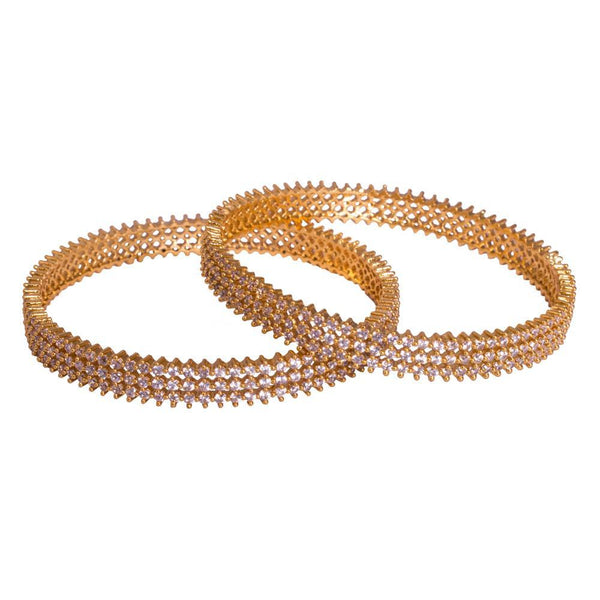 Thin gold plated bangles