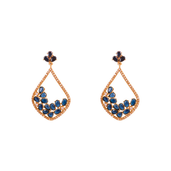 Blue Zircon Stone Earrings