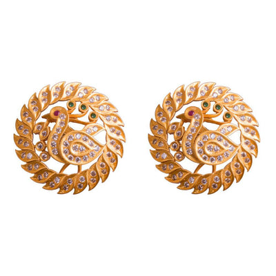 Statement gold plated earrings