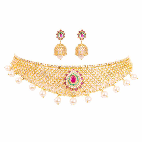 Bridal Look American Daimond Necklace Set