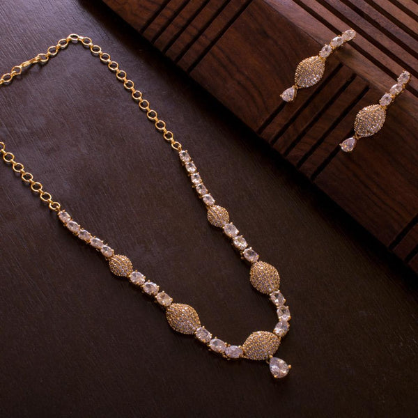 Choker Style Zircon Necklace