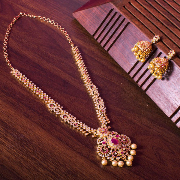 Floral ruby gold set