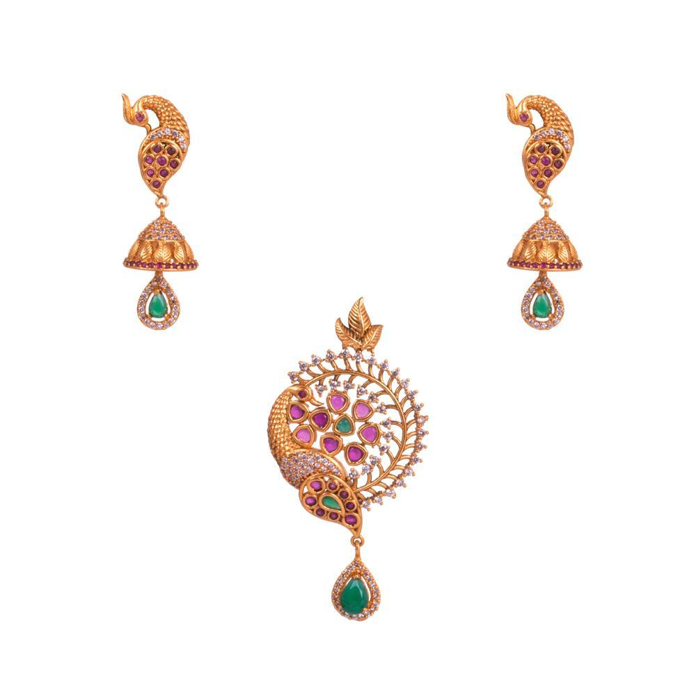 Gold plated pendant designer set