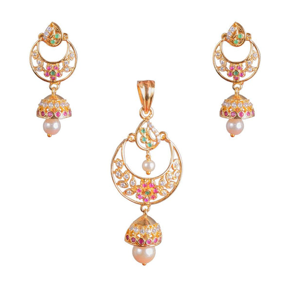 Stylish Zircon Pendant Set